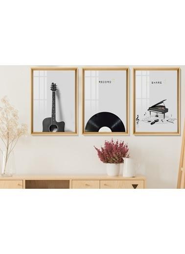 Çerçeve Home  Record Natural Çerçeve Tablo Seti Renkli